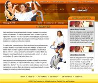 Europe and the United States hospital fitness orange template