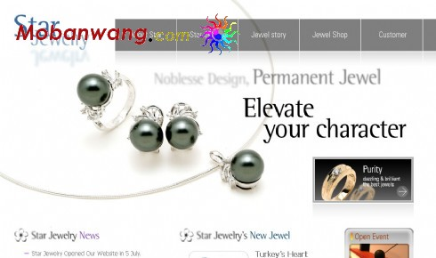 Web templates fine diamond ring display
